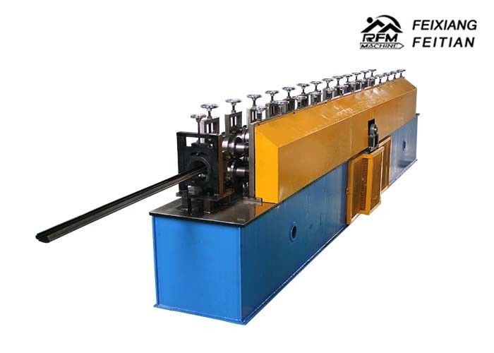 Metal Steel Door Frame Roll Forming Machine , PLC Control Window Frame Making Machine