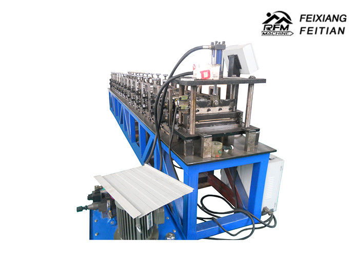 Blue Color Rotary Punching Machine Standing Seam Metal Roofing Sheet Making Machine