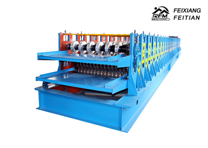 Reliable Steel Deck Forming Machine / Galvanized Tile Sheet Forming Machine