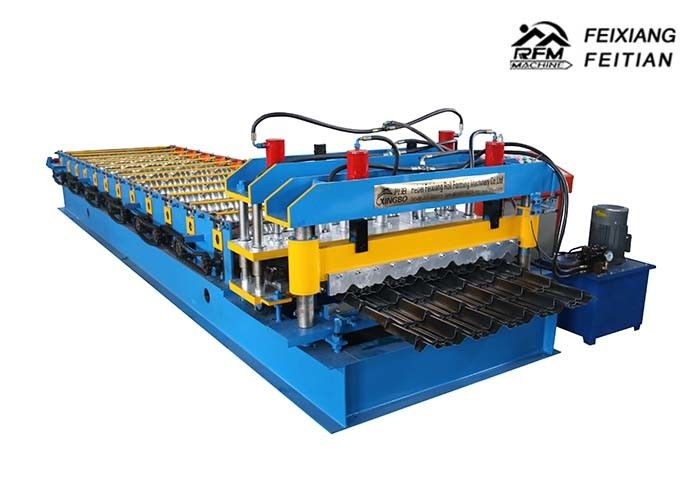Arc Bias Steel Roof Glazed Tile Roll Forming Machine 2-5m/Min Speed